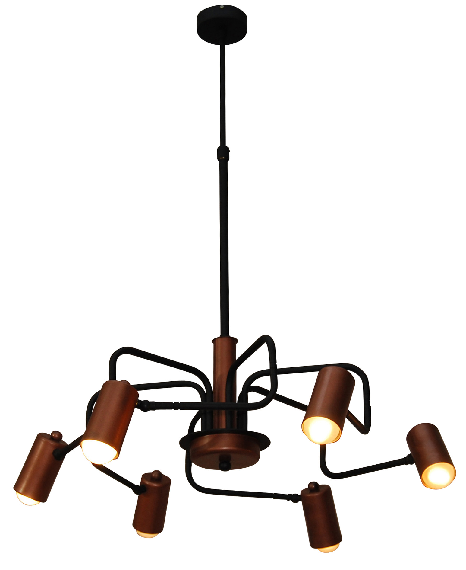 HL-3522-6 HANNAH OLD COPPER & BLACK PENDANT + ΔΩΡΟ ΛΑΜΠΤΗΡΕΣ ΑΞΙΑΣ 20€